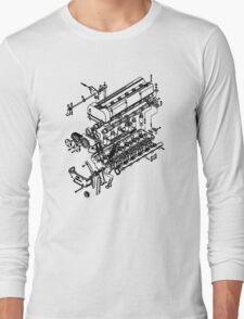 TC24-B1 Exploded View Long Sleeve T-Shirt
