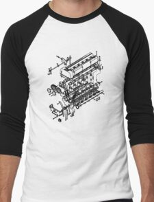 TC24-B1 Exploded View Men's Baseball ¾ T-Shirt