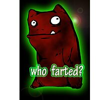 cute monster farted Photographic Print