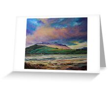 sunset over Cloghane, Dingle Greeting Card