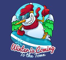 Winter is coming to the town Unisex T-Shirt
