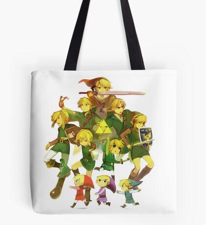 Legend of Zelda Link Collage Tote Bag