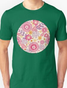 Magical flowers pattern Unisex T-Shirt