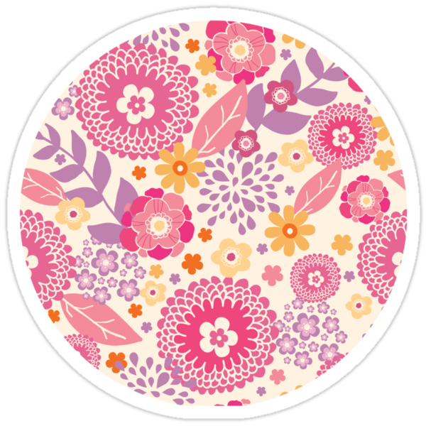 Magical flowers pattern by oksancia