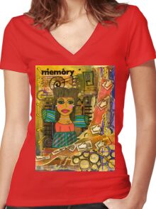 The Angel of Fond Memories Women's Fitted V-Neck T-Shirt