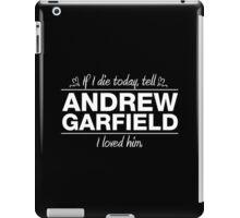 "Andrew Garfield - ""If I Die"" Series (White) iPad Case/Skin"