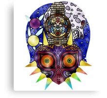 Zelda Majoras Mask Glass Canvas Print