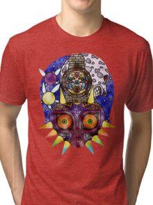 Zelda Majoras Mask Glass Tri-blend T-Shirt