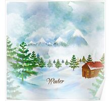 Winter Christmas & New Year Poster