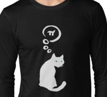 Cat thinking about Pi Long Sleeve T-Shirt