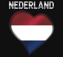 Nederland - Dutch Flag Heart & Text - Metallic by graphix