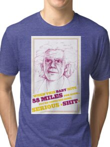 BACK TO THE FUTURE- DOC BROWN Tri-blend T-Shirt