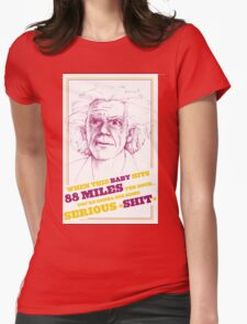 BACK TO THE FUTURE- DOC BROWN Womens Fitted T-Shirt