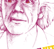 BACK TO THE FUTURE- DOC BROWN Sticker