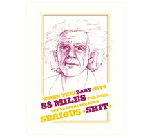 BACK TO THE FUTURE- DOC BROWN Art Print