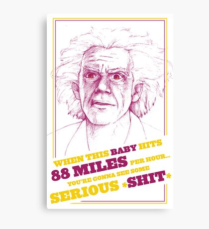 BACK TO THE FUTURE- DOC BROWN Canvas Print