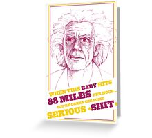 BACK TO THE FUTURE- DOC BROWN Greeting Card