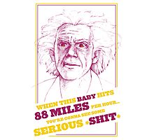 BACK TO THE FUTURE- DOC BROWN Photographic Print