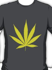 Yellow Pot Leaf T-Shirt