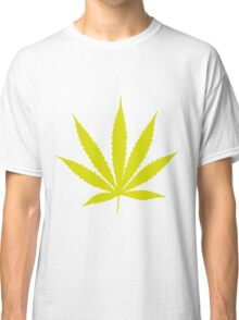 Yellow Pot Leaf Classic T-Shirt
