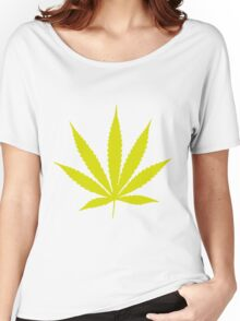 Yellow Pot Leaf Women's Relaxed Fit T-Shirt