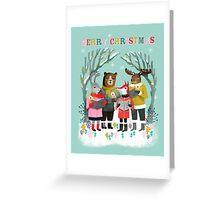 Woodland Christmas Carols by Andrea Lauren  Greeting Card
