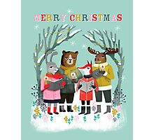 Woodland Christmas Carols by Andrea Lauren  Photographic Print