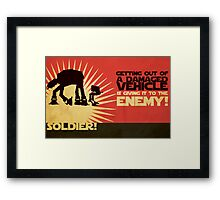 SOLDIER! Framed Print