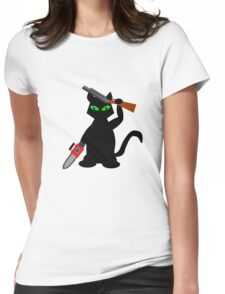 Kitty of Darkness Womens Fitted T-Shirt