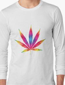 Rainbow Pot Leaf Long Sleeve T-Shirt