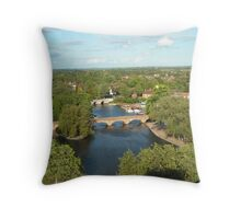 A View from the Royal Shakespeare Company's Tower Throw Pillow