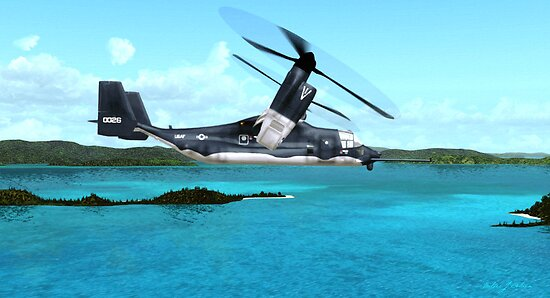 U.S. Air force V-22 Osprey by Walter Colvin