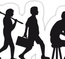 Piano Music Evolution Sticker