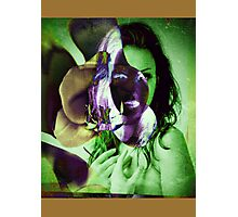 6540br Orchid Goddess Photographic Print