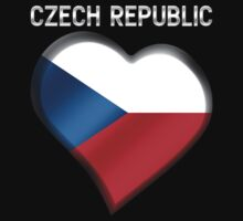 Czech Republic - Czech Flag Heart & Text - Metallic by graphix