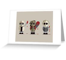 Three Amigos of Horror Greeting Card