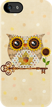 Owl's Autumn Song by sandygrafik