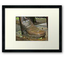 Juneteenth Presidential boot Framed Print