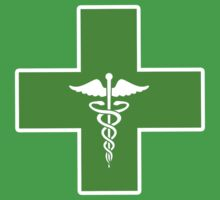 Green Medical Caduceus Cross (b) by HighDesign
