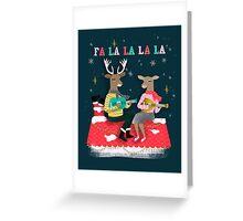 Reindeer Christmas Carols by Andrea Lauren  Greeting Card
