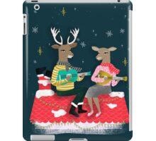 Reindeer Christmas Carols by Andrea Lauren  iPad Case/Skin
