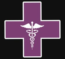 Pink Breast Cancer Awareness Caduceus Cross (b) by HighDesign