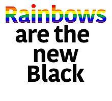 Rainbows Are the New Black Photographic Print