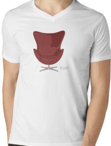 Arne Jacobsen Egg Chair Mens V-Neck T-Shirt