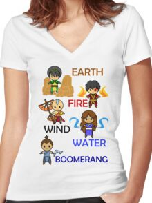 Captain Element Women's Fitted V-Neck T-Shirt