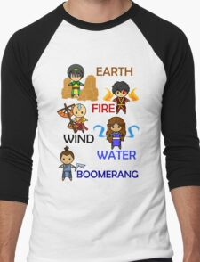 Captain Element Men's Baseball ¾ T-Shirt