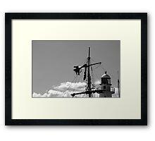 Man on the mast Framed Print
