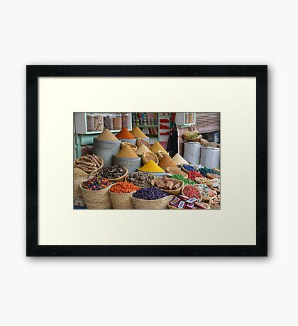 Marrakech The Colour of Spice Framed Print
