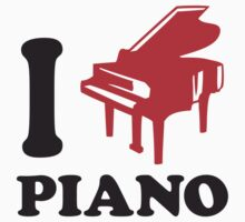 I Love Piano Logo Design by Style-O-Mat