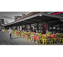 Docklands Dining and Bicycles Photographic Print